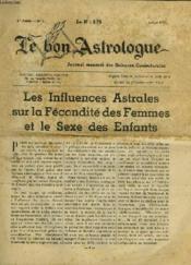LE BON ASTROLOGUE, 1re ANNEE, N° 1, JUILLET 1937 - Couverture - Format classique