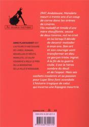 Manolete - 4ème de couverture - Format classique