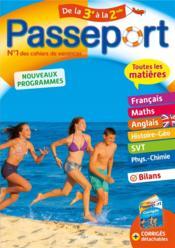 Passeport ; toutes les matières ; de la 3e à la 2de - Couverture - Format classique