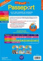 Passeport ; toutes les matières ; de la 3e à la 2de - 4ème de couverture - Format classique