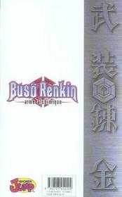 Buso renkin t.1 ; une nouvelle vie - 4ème de couverture - Format classique