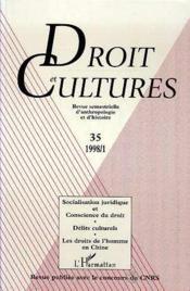 Droit Et Cultures N.35 1998/1:Socialisation Juridique Et Conscience Du Droit. Delits Culturels. Les Droits De L'Homme En - Couverture - Format classique