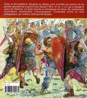 La guerre des Gaules - 4ème de couverture - Format classique