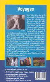 Guide Pratique De La Photo Voyages - 4ème de couverture - Format classique