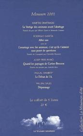 Coffret mousson 2001 - Couverture - Format classique