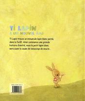 Ti Lapin A Un Nouvel Ami - 4ème de couverture - Format classique