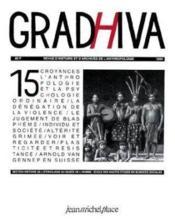 Revue Gradhiva N.15 - Couverture - Format classique