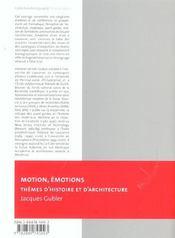 Motion emotions - 4ème de couverture - Format classique