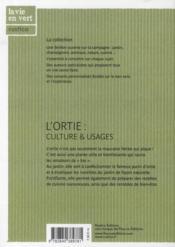 L'ortie : culture & usages - 4ème de couverture - Format classique