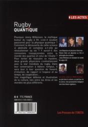 Rugby quantique - 4ème de couverture - Format classique