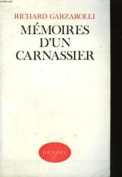 Memoires D'Un Carnassier. - Couverture - Format classique
