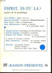 RAISON PRESENTE n°76 : Esprit es tu la ? - Couverture - Format classique