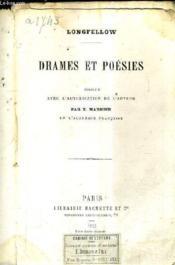 Drames Et Poesies. - Couverture - Format classique
