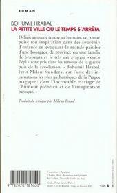 Petite Ville Ou Le Temps S'Arreta (La) - 4ème de couverture - Format classique