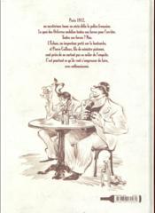 Le vendangeur de Paname ; une enquête de l'Ecluse et la Bloseille - 4ème de couverture - Format classique
