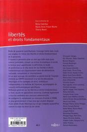 Libertes Et Droits Fondamentaux 2007 ; Notions Et Sources, L'Etre, Le Citoyen, Le Justiciable, L'Acteur Economique Et Social - 4ème de couverture - Format classique
