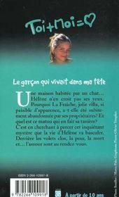 Toi+moi=coeur T.12 ; Le Garcon Qui Vivait Dans Ma Tete - 4ème de couverture - Format classique