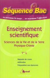 Enseignement scientifique ; svt et physique-chimie - Intérieur - Format classique
