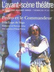 Revue L'Avant-Scene Theatre N.1214 ; Pedro Et Le Commandeur - Intérieur - Format classique
