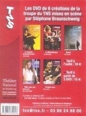 Revue L'Avant-Scene Theatre N.1214 ; Pedro Et Le Commandeur - 4ème de couverture - Format classique
