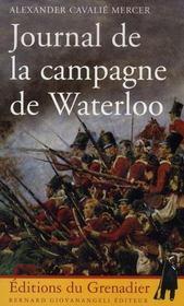 Journal de la campagne de Waterloo - Intérieur - Format classique