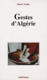 Gestes d'Algérie - Couverture - Format classique