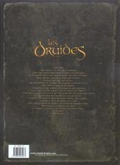 Les druides t.1; le mystère des Oghams - 4ème de couverture - Format classique