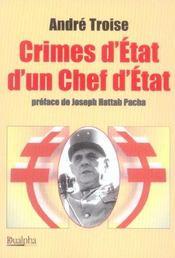 Crimes d'etat d'un chef d'etat - Intérieur - Format classique