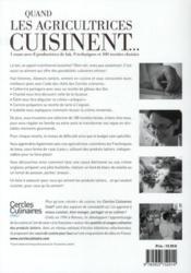 Quand les agricultrices cuisinent... - 4ème de couverture - Format classique