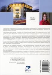 Stabilité et commande des systèmes dynamiques ; cours et exercices corrigés - 4ème de couverture - Format classique