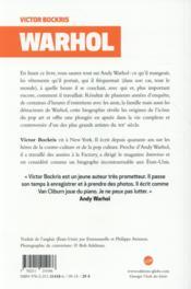 Warhol ; la biographie - 4ème de couverture - Format classique