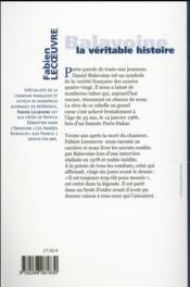 Balavoine ; la véritable histoire - 4ème de couverture - Format classique