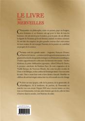 Livre des merveilles - 4ème de couverture - Format classique