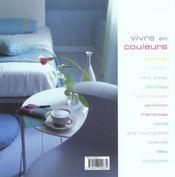 Vivre en couleurs - 4ème de couverture - Format classique