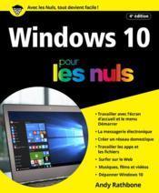 Windows 10 pour les nuls (4e édition) - Couverture - Format classique