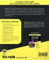 Windows 10 pour les nuls (4e édition) - 4ème de couverture - Format classique