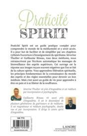 Praticité spirit - 4ème de couverture - Format classique