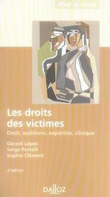 Les droits des victimes ; droit, auditions, expertise, clinique (2e édition) - Intérieur - Format classique