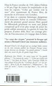 La Grande Patience T.3 Coeur Des Vivants - 4ème de couverture - Format classique