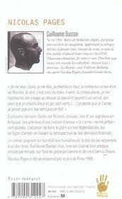 Nicolas pages - 4ème de couverture - Format classique