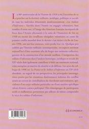 La france et les soldats d'infortune au xx siecle - 4ème de couverture - Format classique