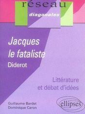 Études sur jacques le fataliste, diderot - Intérieur - Format classique