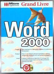 Grand livre word 2000 - Intérieur - Format classique