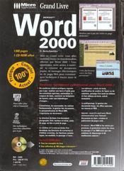 Grand livre word 2000 - 4ème de couverture - Format classique