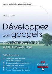 Developpez des gadgets pour windows vista et windows live - Intérieur - Format classique