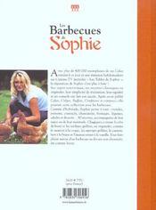 Barbecues De Sophie (Les) - 4ème de couverture - Format classique