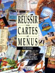 Reussir Vos Cartes Et Menus - Couverture - Format classique