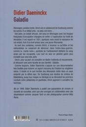 Galadio - 4ème de couverture - Format classique