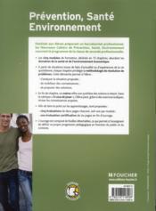 Les Nouveaux Cahiers ; Prévention-Santé-Environnement ; 2nde Bac Pro ; Livre Avec Evaluations (2e Edition) - 4ème de couverture - Format classique
