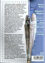 Revue Bifrost N.17 ; Nancy Kress ; Roland Wagner - 4ème de couverture - Format classique